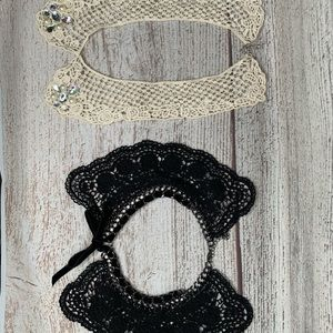 Accessories - Fashion Jewelry Collar Crochet Bedazzled Set Of 2
